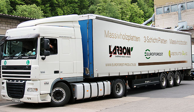 LKW Transport bei Euroforest